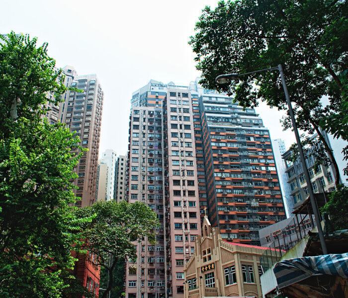 Hong Kong Island Buildings near HKU